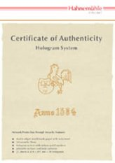 25 Hahnemuhle Certificate of Authenticity A4