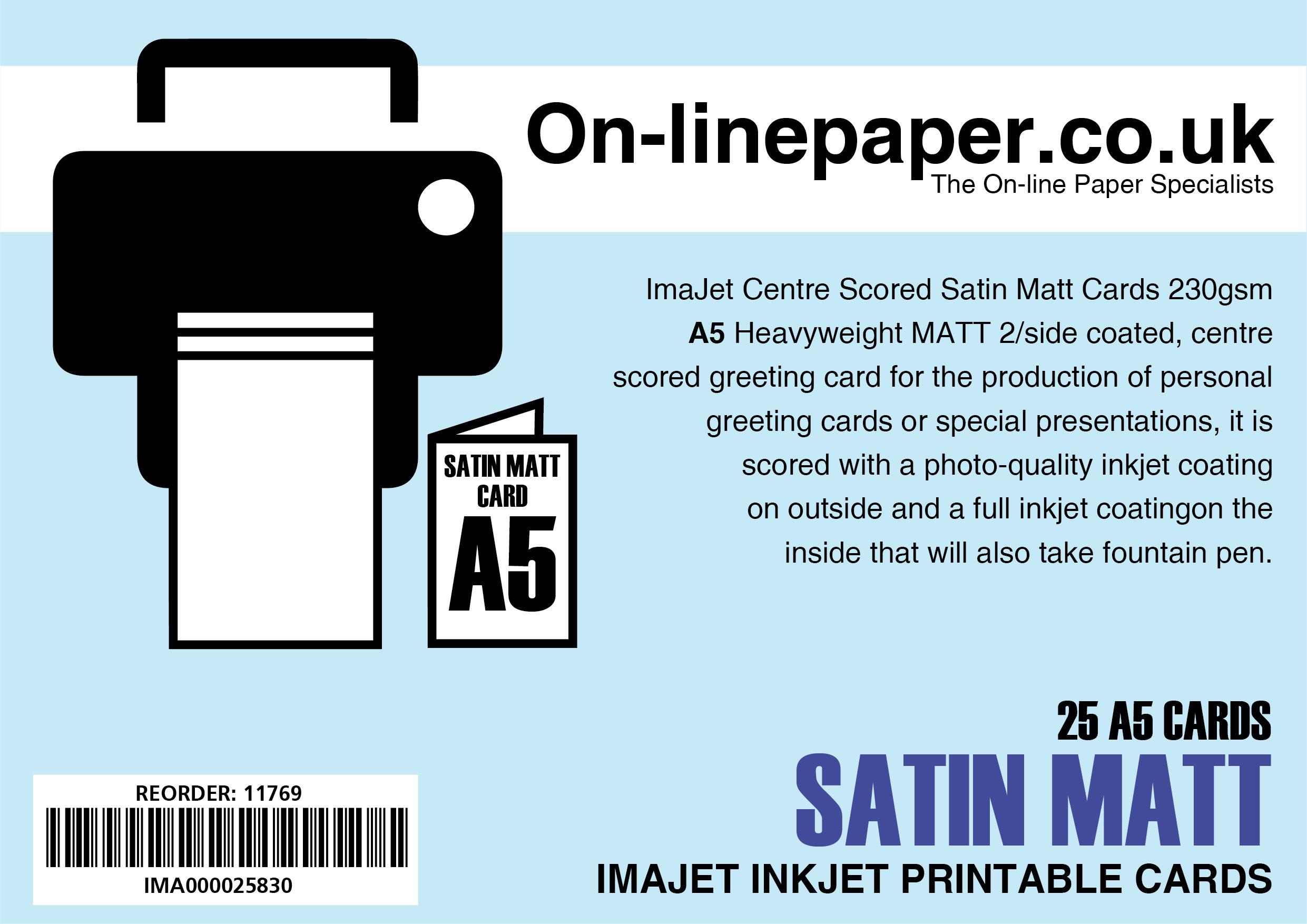 100 sheets Fotospeed Matt Ultra Inkjet paper 4x6 240gsm
