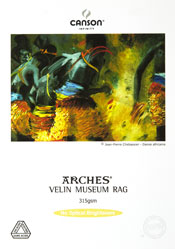 Canson Infinity Arches Velin Museum Rag Fine Art Photo Paper 315 gsm
