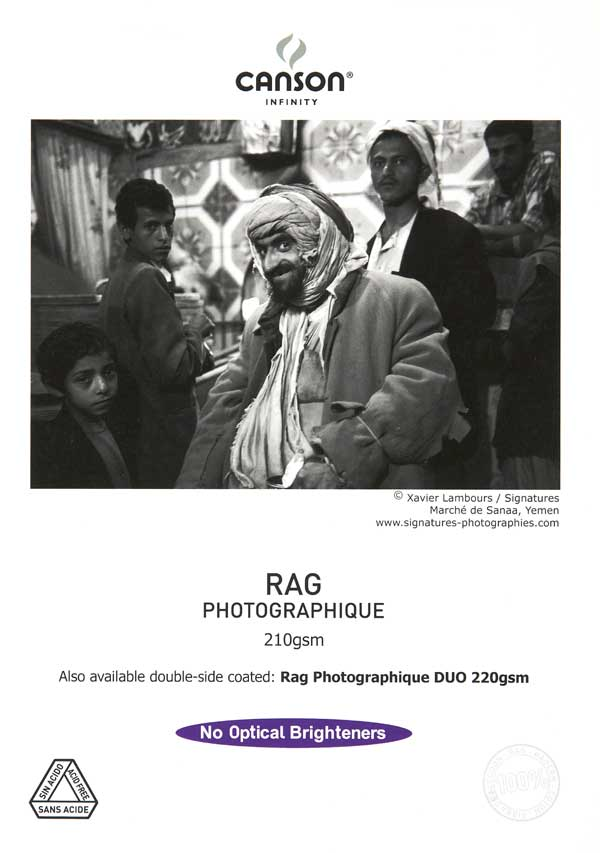 Canson Infinity Rag Photographique Duo 220gsm 25 sheets A2