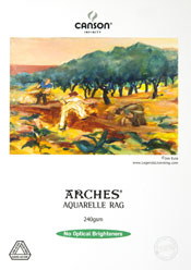 Canson Infinity Arches Aquarelle Rag Fine Art Photo Paper 240 gsm