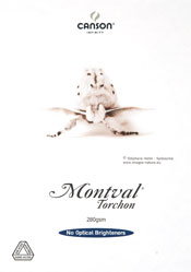 Canson??√? Montval??√? Torchon 280gsm - A4 x 10 sheet Packs