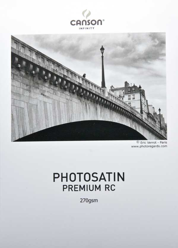 Canson Infinity PhotoSatin Premium RC 270gsm 25 sheets A2