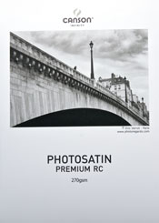 Canson Photo satin Premium RC 270 Digital Inkjet Paper