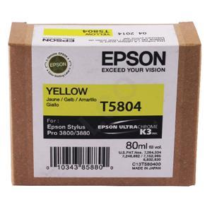 Epson Stylus Pro 3880 / 3800 80ml Yellow ink cartridge C13T580400