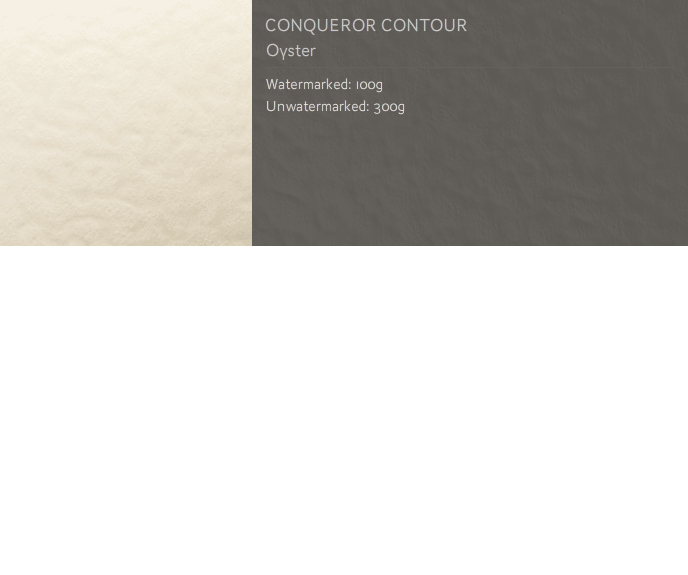 Conqueror Letterhead Paper Texture CONTOUR 300 gsm A4 400 sheets Oyster (unwatermarked)
