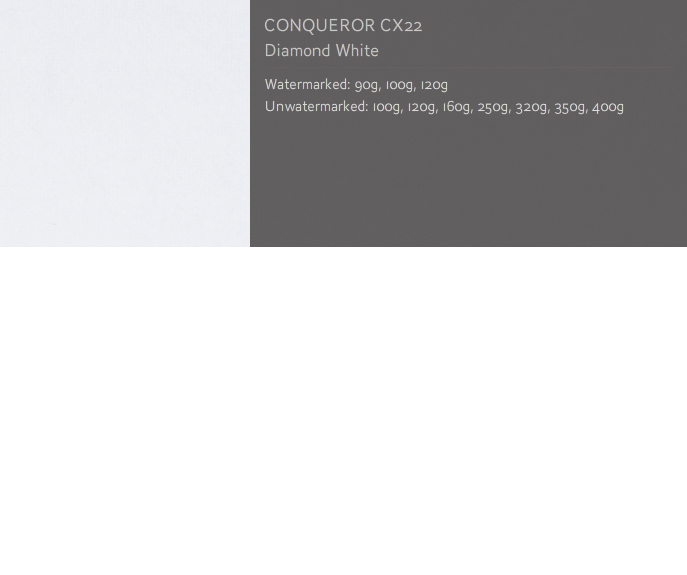 Conqueror Letterhead Paper SMOOTH/SATIN CX22 350 gsm A4 400 sheets Diamond White