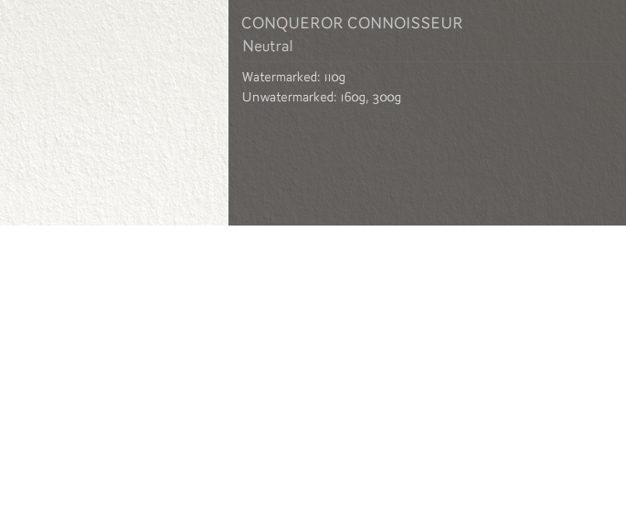 Conqueror Letterhead Paper CONNOISSEUR 100% COTTON A4 110 gsm 2000 Neutral