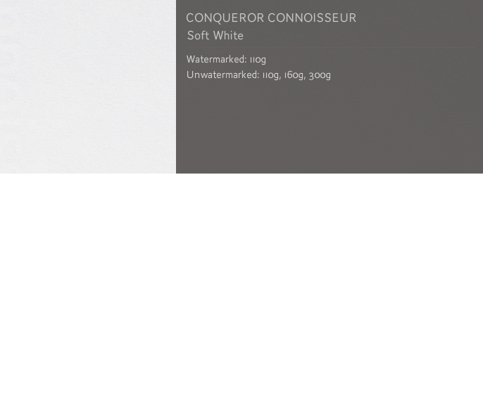 Conqueror CONNOISSEUR ENVELOPES Super Seal 100% COTTON DL SOFT WHITE x 250