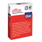 DUO Office Letterhead Multi Purpose Office High Grade Ream Wrapped 90 gsm A4 210 x 297 2500 sheets white