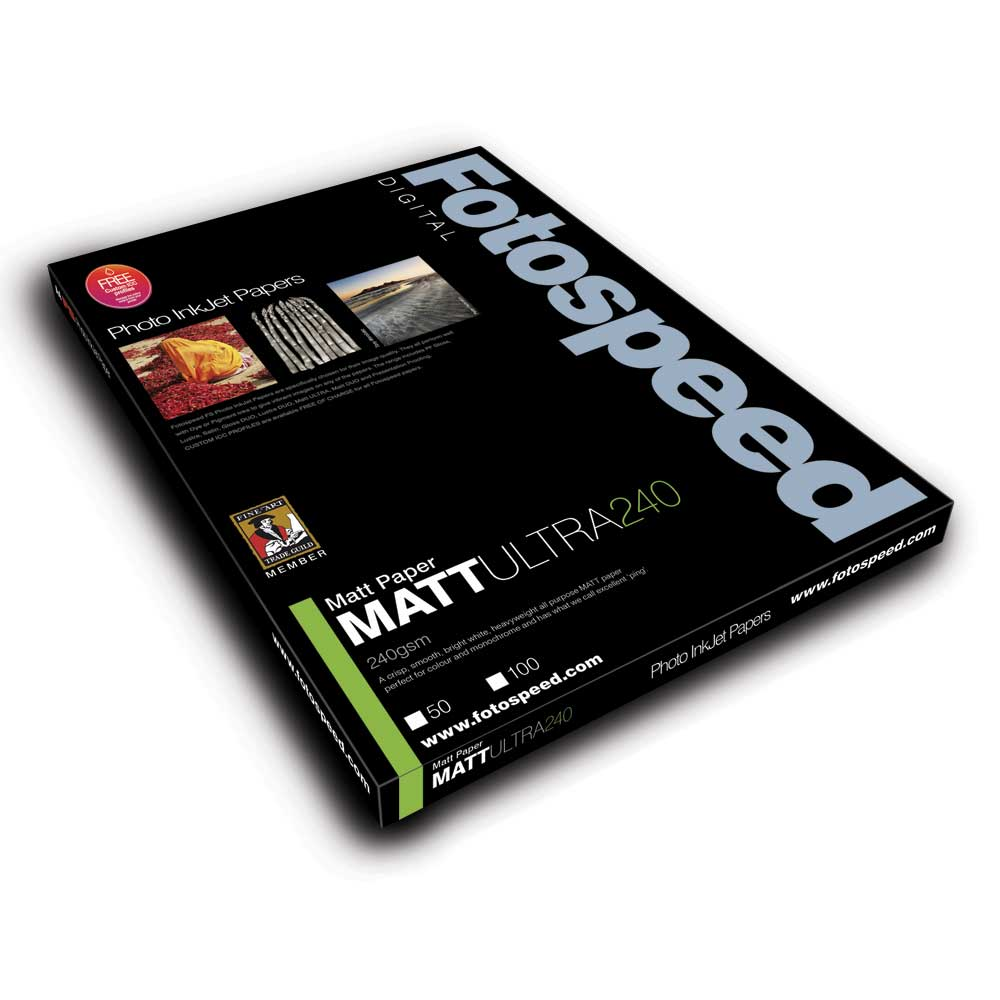 Fotospeed Inkjet Photo Paper Matt Ultra - 240gsm 50 Centre Scored Cards A4 (A4 Sheets Folding to A5)