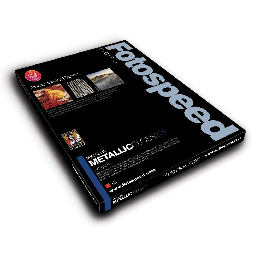 Fotospeed Metalic GLOSS 275gsm A3 25 sheets