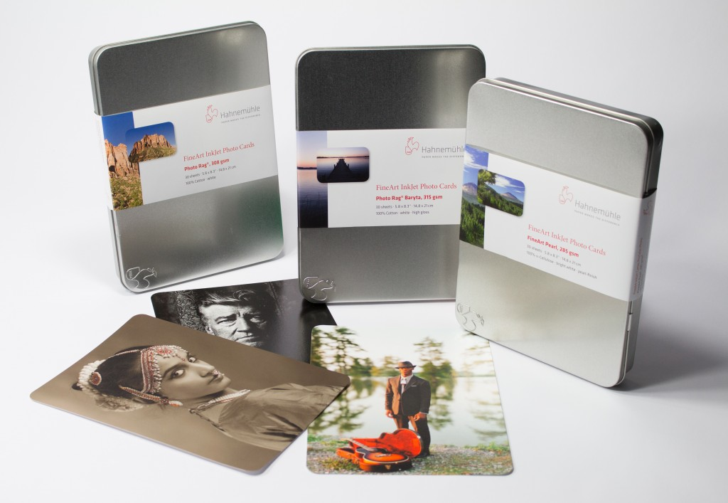 Hahnemuhle Photo Rag 308 Fine Art Inkjet Photo Cards A5 x 30 in metal box