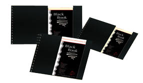 Hahnemuhle Black Books - traditional spiral bound albums A5 Black Book