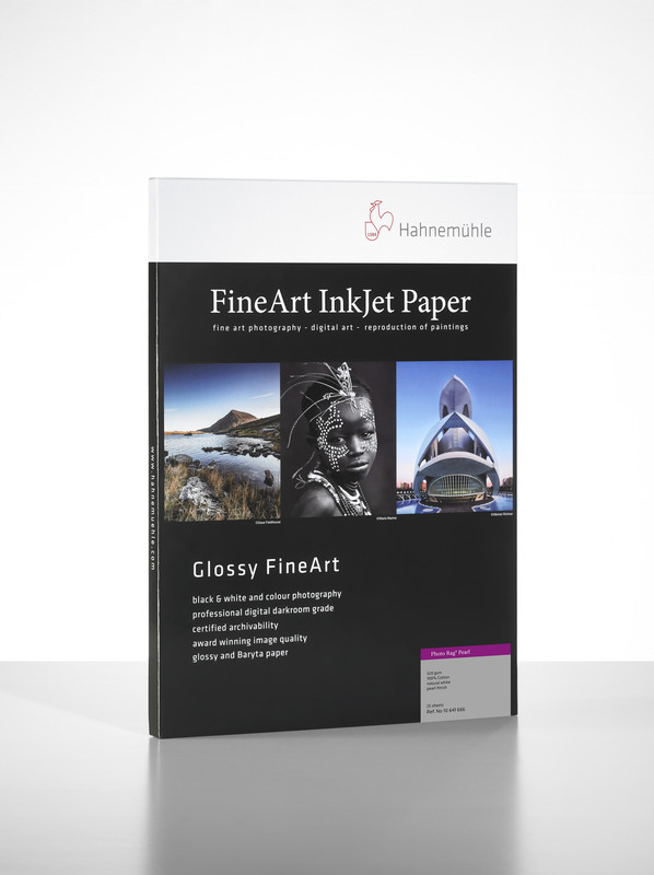 Hahnemuhle GLOSSY Fine Art Paper PHOTO RAG PEARL 320gsm 25 sheets A2