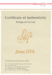 Hahnemuhle Certificate of Authenticity A4 25 Sheets