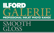 "ILFORD Galerie SMOOTH GLOSS 290 Fast Dry Glossy Inkjet Paper 10.2cm x 15.2cm (4"" x 6\"") x100 Sheets"