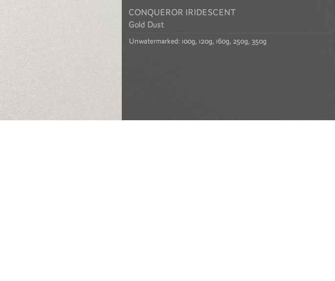 Conqueror CONCEPT IRIDESCENT A3 350 gsm 200 sheets Gold Dust,
