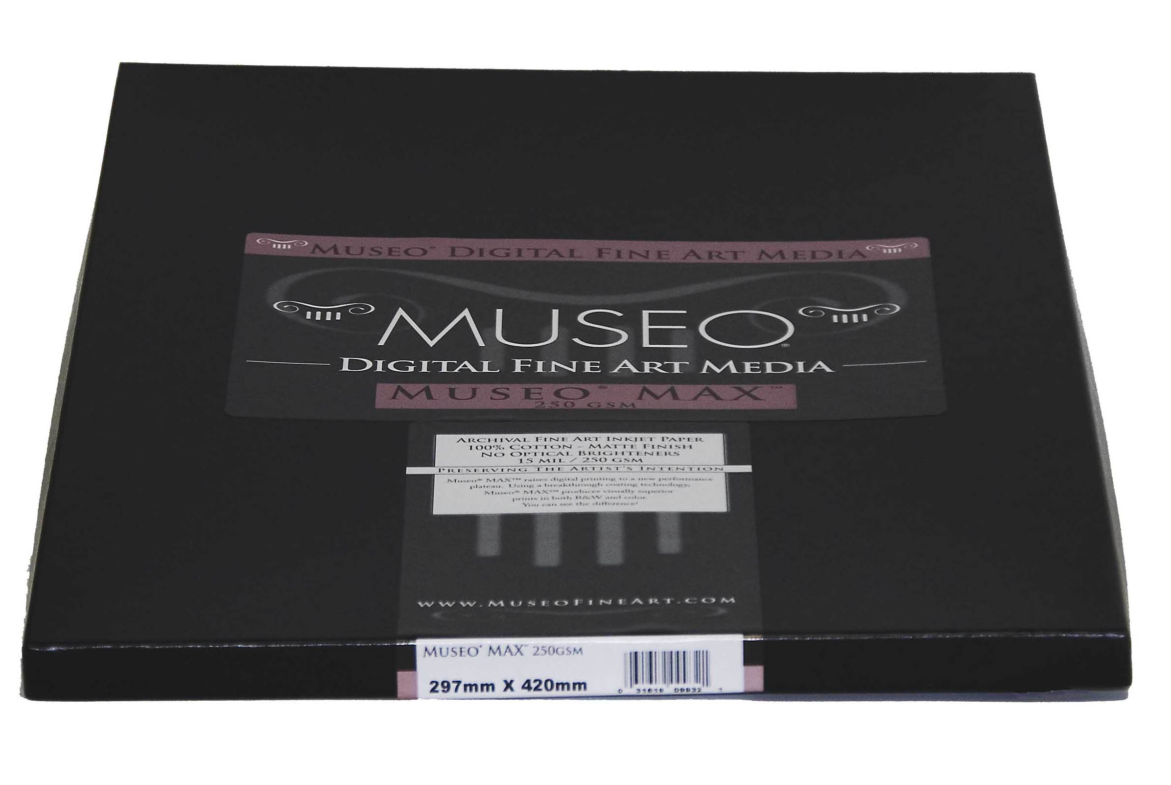 "Museo Digital Fine art Inkjet paper High Colour Gamut MUSEO MAX 100% Cotton 365 gsm 17"" x 22"" inch 431.8 x 558.8mm 25 sheets"