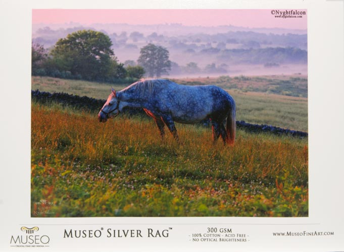 "Museo Digital Inkjet Baryta fibre based semi-gloss - 'SILVER RAG 100% cotton 300 gsm 13"" X 19"" inches 330.2 x 482.6 mm 25 sheets"