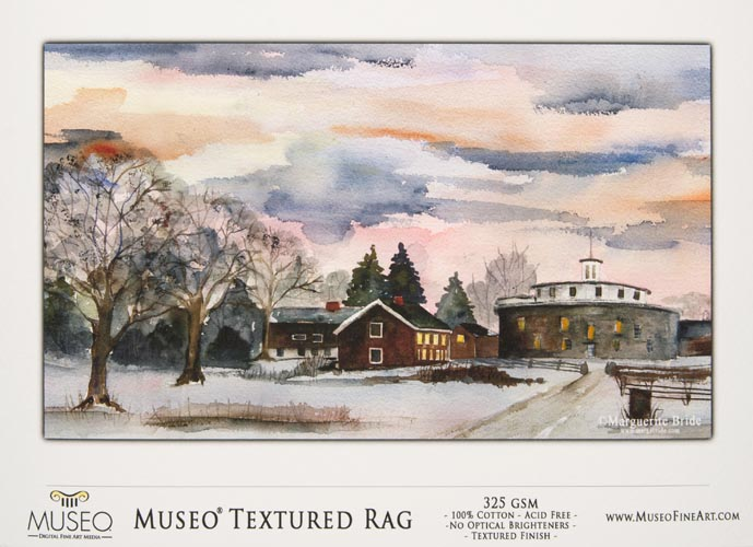 Museo Digital FINE ART Inkjet paper 'TEXTURED RAG' WATERCOLOR 285 gsm A4 210 x 297 mm 25 sheets
