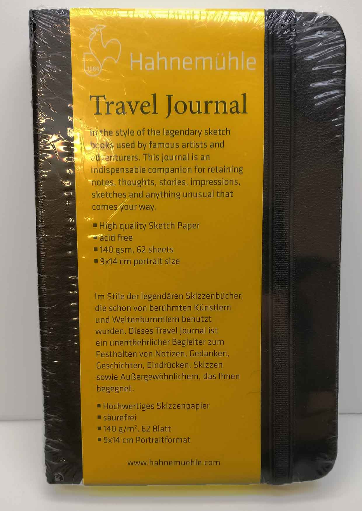 Hahnemuhle Travel Journal 9cm X 14cm 140gsm 62 sheets - Portrait