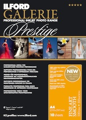 CLEARANCE DISCONTINUED: Ilford Galerie Prestige Fine Art SMOOTH 220gsm A3 25 sheets