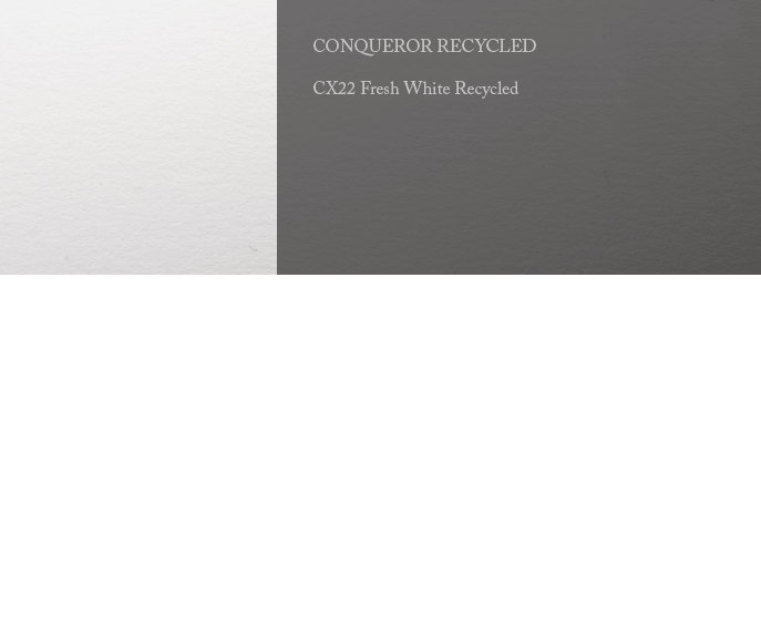 Conqueror Letterhead Paper SMOOTH/SATIN CX22 160 gsm A4 1200 sheets 25% RECYCLED Fresh White