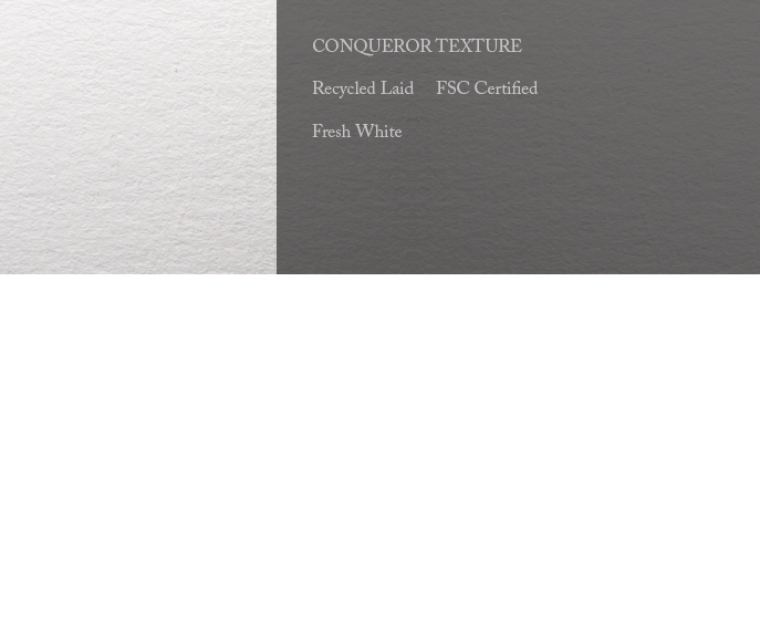 Conqueror Letterhead Paper Texture 25% RECYCLED FSC LAID 300 gsm A4 500 sheets 25% RECYCLED Fresh White