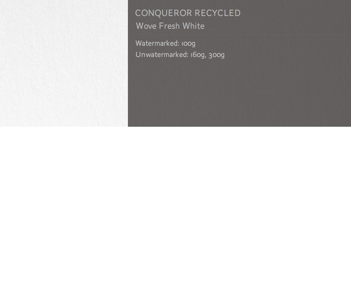 Conqueror Letterhead Paper SMOOTH/SATIN 25% RECYCLED FSC WOVE 100 gsm A4 500 sheets 25% RECYCLED Fresh White