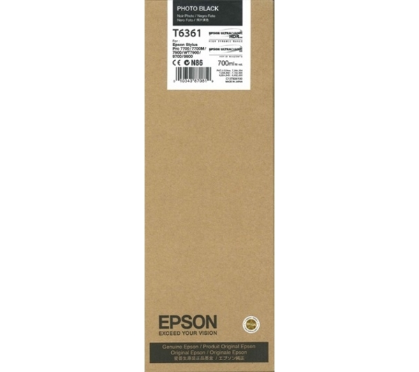 Epson Stylus Pro 7700/ 7890/ 7900/ WT7900/ 9700/ 9890/ 9900 K3 HDR Photo Black 350ml ink cartridge