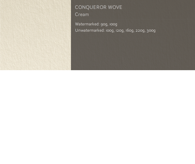 Conqueror Letterhead Paper SMOOTH/SATIN WOVE PAPER 300 gsm A4 400 sheets Cream