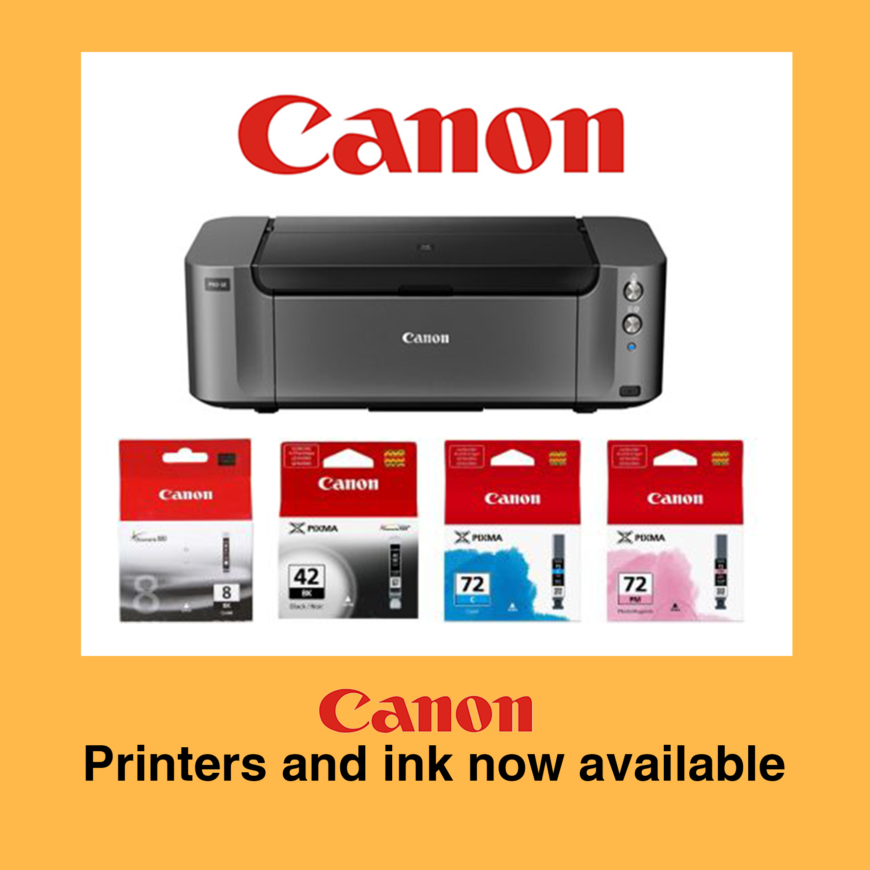 SECOND 10 Canon Printers and Ink