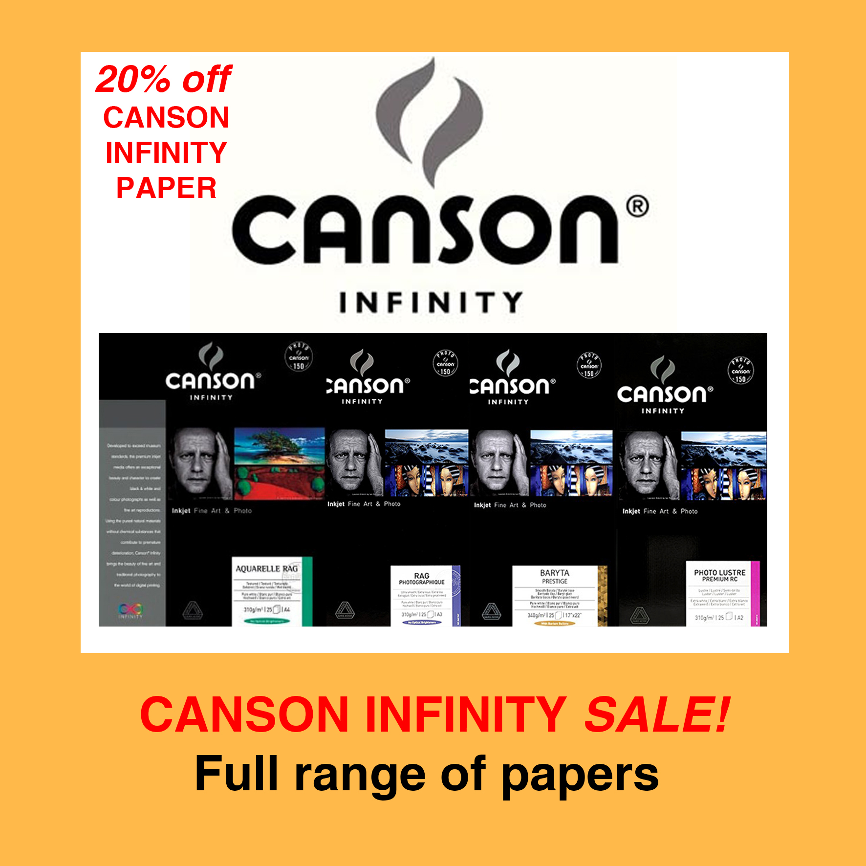 SECOND 9 Canson Infinity Papers