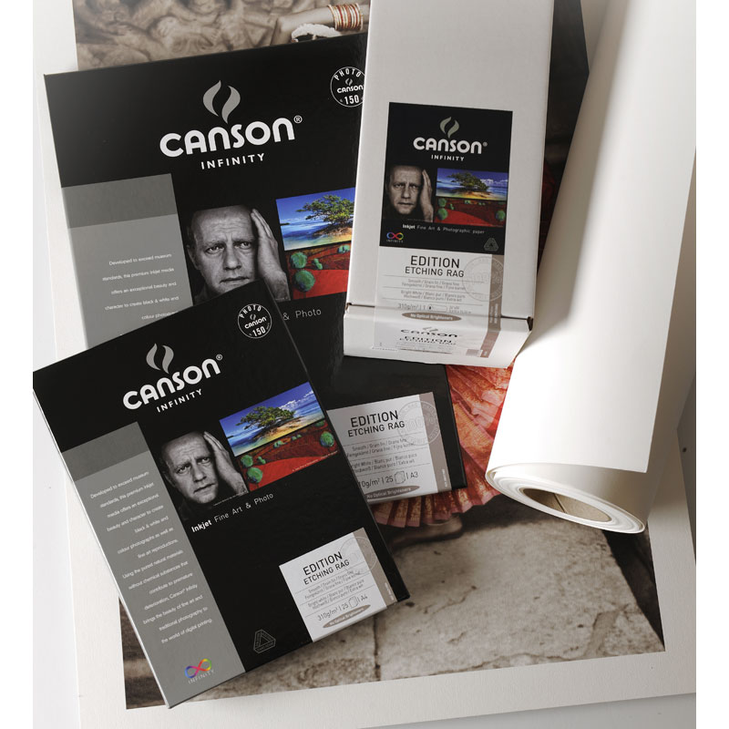 Canson Infinity Etching Rag Fine Art Photo Paper 310gsm 10 sheets A4
