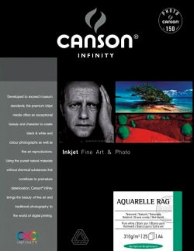 Canson Arches Aquarelle Rag Fine Art Photo Paper 310gsm 25 sheets A4