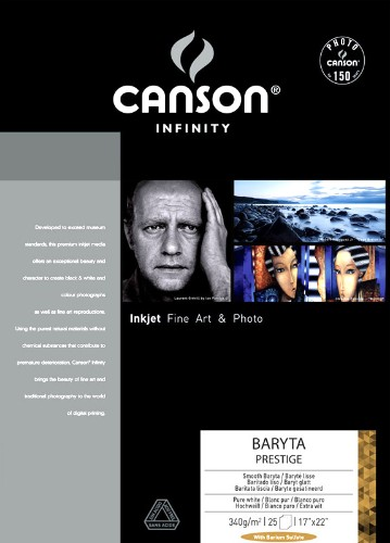 CANSON INFINITY BARYTA PRESTIGE 340GSM - BARYTA GLOSS A4 25 Sheets