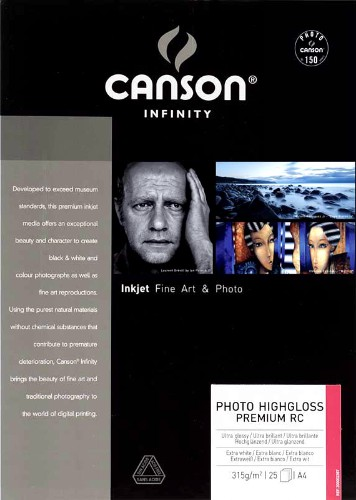 Canson Infinity PhotoGloss Premium RC 270gsm 25 sheets A2