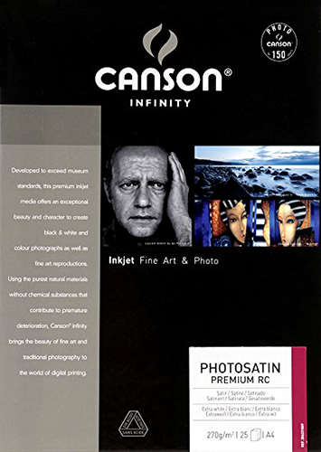 Canson Infinity PhotoSatin Premium RC 270gsm 25 sheets A4