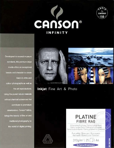 Canson Infinity Platine Fibre Rag 310gsm 25 sheets A4