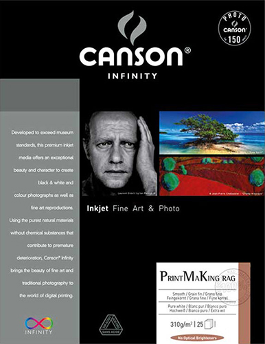CANSON INFINITY PRINTMAKING RAG 310 GSM - MATTE A4 10 Sheets