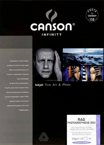 Canson Infinity Rag Photographique Duo 220gsm 25 sheets A4