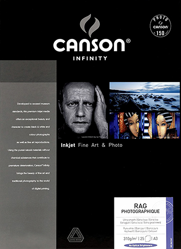 Canson Infinity Rag Photographique 310gsm 25 sheets A4