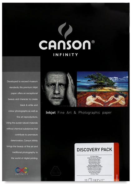 Canson Infinity PHOTO A4 Discovery Pack 14 Sheets - 7 types