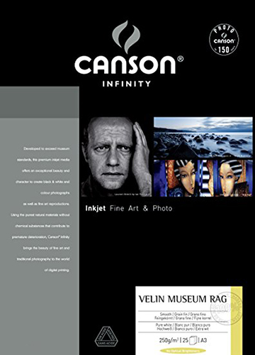 Canson Infinity Arches Velin Museum Rag Fine Art Photo Paper 250gsm