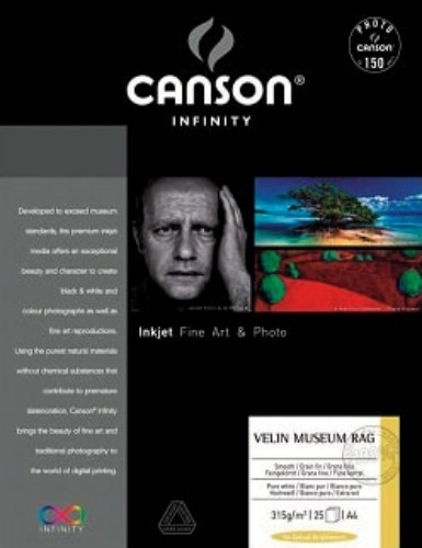 Canson Infinity Arches Velin Museum Rag Fine Art Photo Paper 315gsm