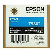 Epson Stylus Pro 3880 / 3800 80ml Cyan ink cartridge C13T580200
