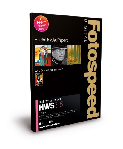 Fotospeed Digital Fine Art Inkjet Paper High White Smooth - 315gsm A2 50sheets