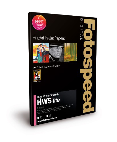 Fotospeed High White Smooth LITE - 215gsm A3+ 50 Sheets