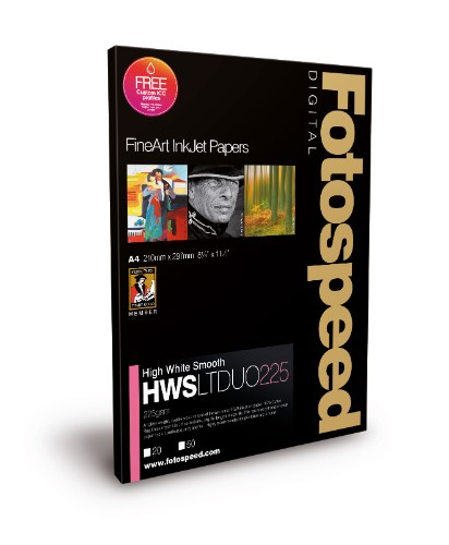 Fotospeed Digital Fine Art Inkjet Paper High White Smooth LITE DUO - 225gsm A4 20sheets